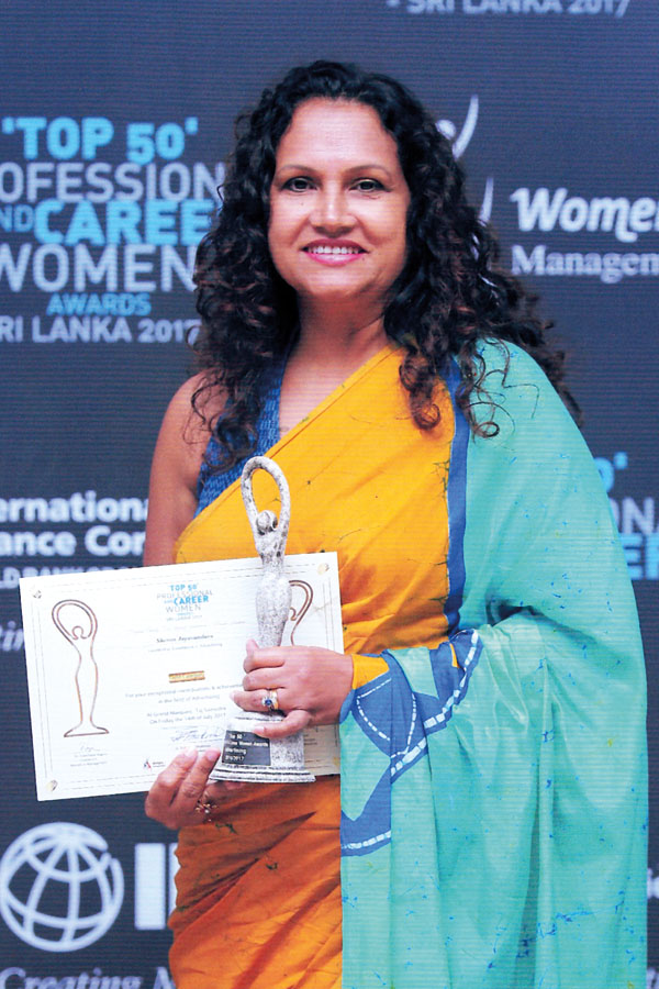 Sheron Jayasundara, COO Bates Strategic Alliance - Winner of Gold Award in the Advertising Category at the Women in Managment 'Top 50 Professional & Career Women' Awards