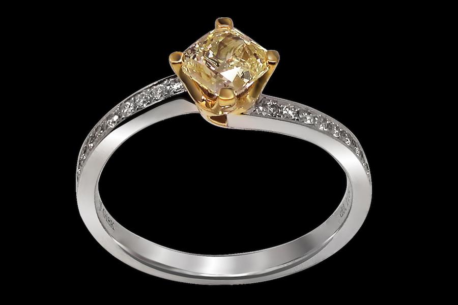 5. Sun Sparkle - Yellow Diamond engagement ring(1)