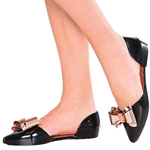 Sexy-ted-baker-womens-black-rose-gold-ballet-pumps-iela-ballet-pumps-Cozy-1H1C