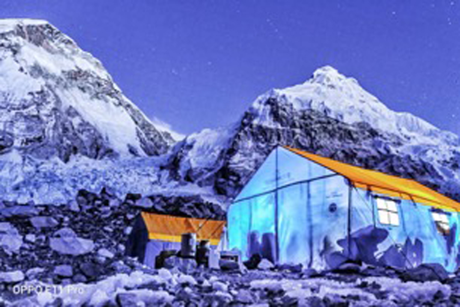 Pic#4 - Dazzling view of Basecamp in Night